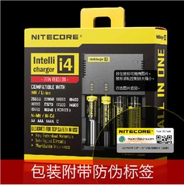 Wholesale Good price authentic nitecore i4 lcd battery charger digicharger d4 bay charger nitecore lcd i4 charger