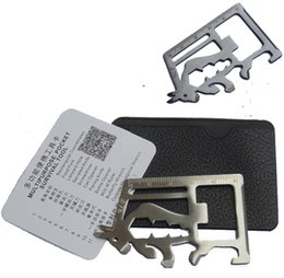 Wholesale Matador saber card attached holster manual outdoor survival tool card Multifunctional Swiss Army Knife Card