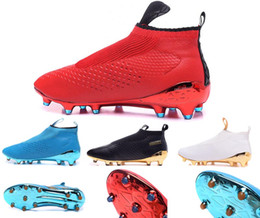 Wholesale 2016 athletics mens Ace16 purecontrol football training shoes fashion ACE no laces soccer sneakers outdoor youths sports football boots