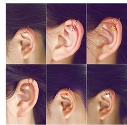 Wholesale Silver Screw Earring Prices - Wholesale Price heart shaped pearl Earring Jewelry, Fashion Trend Vintage Ear Clip Ear bones clip Earring