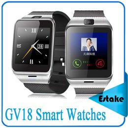 Wholesale GV18 Smart Watches Bluetooth Watches Hands free Calling Loud High definition Touch Screen for Android Syetem and IOS iphone