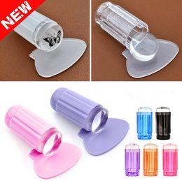 Wholesale New cm DIY Nail Art Templates Stamping Stamper Scraper Image Plate Manicure Tools Kits Plastic