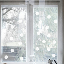 Wholesale Green waterproof matte vinyl wall sticker dots carved glass windows Cafe new European and American fashion