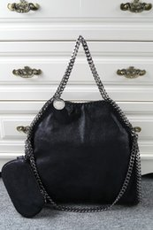 DHL Free Shipping! Falabella Shaggy Deer fold over 3 Chain Tote Women shoulder Bags Size 36*32*10cm