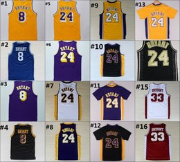 Wholesale Kobe Bryant Jersey Throwback High School Lower Merion Kobe Bryant Retro Shirt Uniform Yellow Purple White Black Blue Red