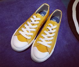 2016 men and women Spring new candy-colored College Wind casual lace canvas shoes couple models
