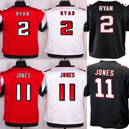 Wholesale Best Quality Matt Ryan Julio Jones Jersey Embroidery Logos Black Red Jerseys