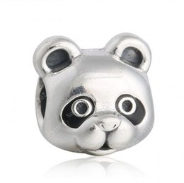Vintage Enamel Panda Charms Bead Authentic 925 Sterling Silver Animal Beads For Jewelry Making DIY Brand Bracelets Accessories HB326