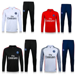 Wholesale PSG training suit soccer Sportswear football sports wear PSG red jerseys long sleeve foot shirts ET