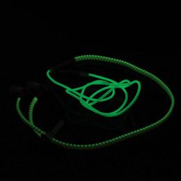 Zipper LED Earphone Luminous Headset Lighting In-ear Earphone with Mic for PC Laptop iphone Light up Headphones