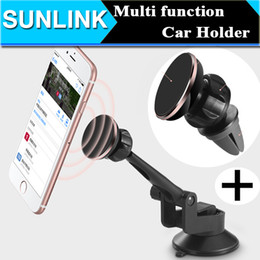Wholesale Mobile Phone Magnet Car Holder Degree Rotation Windshield Sucker Installation Air Vent Mount Cell Phone Holder Stands