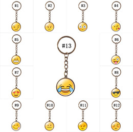 Wholesale 2016 New Styles Emoji Keychains Mixed Emoji Keyrings Bag pendant Key chain mm For Fashion accessories Best gifts