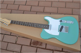 Wholesale New HOT new style green American F Telecaster string Natural wood electric Guitar One neck No Scarf
