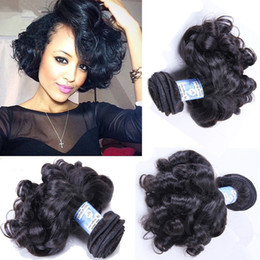 Unprocessed Aunty Funmi Hair Bouncy Curls Virgin Peruvian Human Hair Weave Weft 3 Bundle Deals Natural Black Curly Remy Hair Extensions