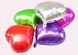 Globos del corazón en venta-40pcs / Lot 10 pulgadas de Paintless la fiesta de cumpleaños del globo del corazón de la boda decoración de aluminio hoja hincha Globos Globos baratos