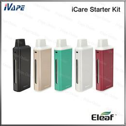 Wholesale 100 Original Eleaf iCare Starter Kit mah ml Built in Tank Airflow Adjustable With mah Battery New IC Head