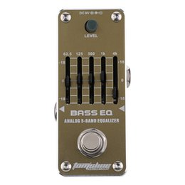 Wholesale New Arrival AROMA AEB Bass Analog Band EQ Equalizer Mini Single Electric Guitarra Guitar Effect Pedal with True Bypass