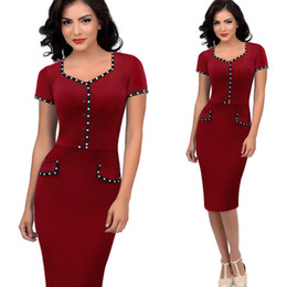 Women's Fashion Square Collar Short Sleeve Contrast Color Pencil Dress For Women Wine Red Sexy Club Night Out Party Dresses 4XL