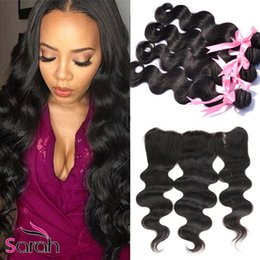 Wholesale Best Selling Brazilian Hair Bundles with Closure Grade A Brazilian Body Wave and Frontal Closure with Baby Hair Human Hair Weave