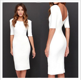 Evening Dresses Sleeves Sexy Womens Backless Bandage Club Slim Bodycon Party Evening Cocktail White Mini Dress evening gown