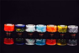 Wholesale 2016 Epoxy resin drip tip wide bore mouthpiece e cigs cover caps resin stone drip tips VS smok tfv8 baby beast