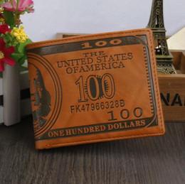 Creative wallet Letter Pu Designer purse Quality New Leather Men Wallets Us Dollar Bill Money Wallet Man Bifold Men's