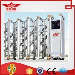 Wholesale stainless steel automatic folding exterior door with electric motor J1516