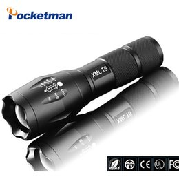 Wholesale E17 Cree LED Flashlight Lumen Tactical Waterproof Zoomable Powerful XML T6 Lamp Camping Torch LED linternas