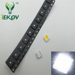1000pcs PLCC-6 5050 White SMD LED 3-CHIPS Ultra Bright Light Emitting Diodes SMD SMT Chip lamp beads For automotive Boat Bike DIY