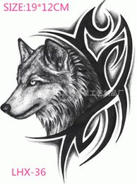 Wholesale P Most Large Waterproof Flower Arm Tattoo Body Painting Simulation Wolf Tattoo Stickers Manufacturers And Directsales