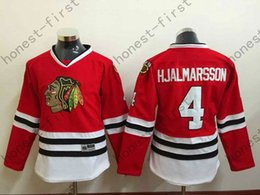 #4 Niklas Hjalmarsson Womens Blackhawks Jersey Home Red, Premier Stitched Cheap Chicago Blackhawk Hockey Jerseys Shirt Women