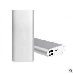 100% Original Mi Xiaomi 16000 mah Power Bank 16000mAh Powerbank Dual USB Portable Charger Silver External Battery Pack Mobile