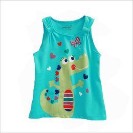 Kids Clothes Girls Tops T-Shirt Sleeveless 2016 Summer Baby Girl Tshirt Fashion T Shirt Enfant Girl Clothing Children dinosaur