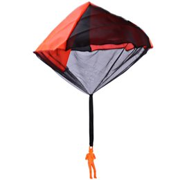 Wholesale The New Listing Neo Children Kids Tangle Free Hand Throwing Parachute Kite Interesting Outdoor Play Game Toy Gift For Child