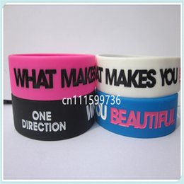 """25pcs lot One Direction Wristband """"What Makes You Beautiful"""" One Direction Bracelet"""
