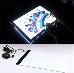 Wholesale A4 LED Light Stencil Art Board Box Tracing Drawing Table Tattoo Pad Adapter