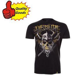 Wholesale Quality goods MMA UFC VIKING T shirt Muay Thai boxing T shirt BLACK