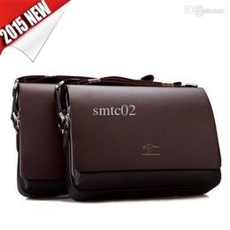 Wholesale Leather men messenger bags high quality kangaroo brand laptop bag briefcase shoulder bag travel bags dollar price V2B50