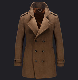 Fall-2016Brand Autumn Winter Keep Warm Fashion Coat JJEP Collar High Quality Woolen Coat Luxury Mens Formal Party Outdoors