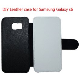 2016 New For Samsung Galaxy S6 DIY Heat Sublimation Flip leather blank case Cell phone Mobile phone case