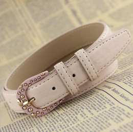 Wholesale fashion female all match belt women s trendy trouser belt beautiful The lacquer that bake pin buckle belt