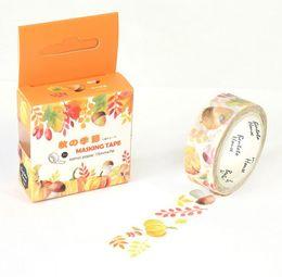 Wholesale JA117 The Harvest of Autumn Decorative Washi Tape DIY Scrapbooking Masking Tape School Office Supply Escolar Papelaria