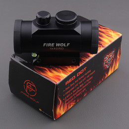 Wholesale FIRE WOLF X40 Red Dot Sight Riflescope mm Rail Mount for Shotgun Rifle with Bubble Level