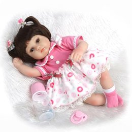 Wholesale Truly Silicone Reborn Girl Doll Soft Lovely Baby Dolls that Look Real Inch cm Stuffed Body Girl Doll