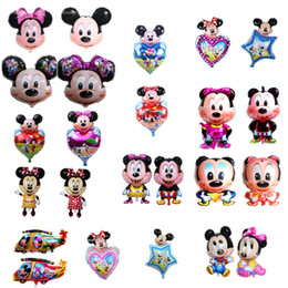 minnie mickey mouse head helium balloons all style birthday party decoration big shaped mylar balloons wholesale factory price DHL freeship