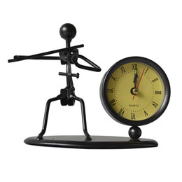 Steel Man Playing Violin Casting Model With Clock - Violin Model Clock