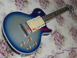 Ace Signature Electric Guitar with Blue Burst Silver Sparkle Mahogany Body 3 Pickups free shipping