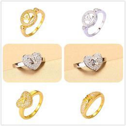 Wholesale 24K Yellow Gold Silver Plated Rings Luxury Brand Best Crystal AAA CZ For Women Split Evening Dresses Top Fashion Oscar Oorbellen Hot Sales