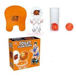 Wholesale 3 Basketbal Mat Basketball Hoop Barrel Door Hanger Set Mini Basketball Toys Kids Sports Indoor Toilet Basketball Sport Set LJJP261