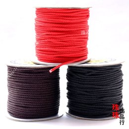 DIY powder pearl jade wholesale million Bosheng hand woven red rope Pendant Necklace Bracelet Chinese rope wire rope